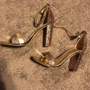 Rose Gold Glittery Heels